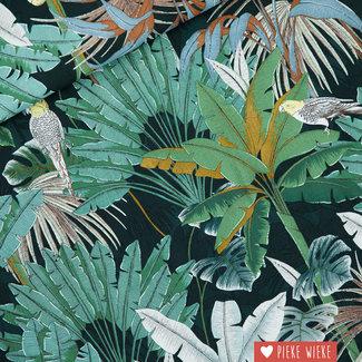 See You at Six Viscose Rayon Jungle Green Gables