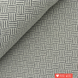 Stretch Jacquard Stripes Gray