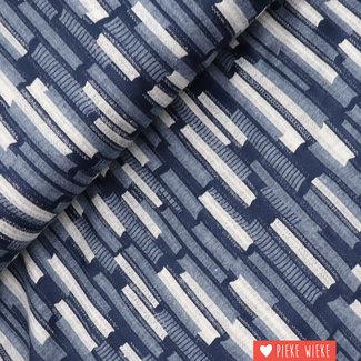 Stretch Stripes collage blue
