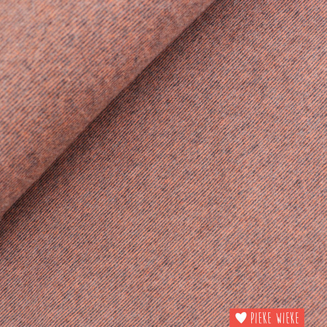 Katia Brushed tricot Multi stripes Rust