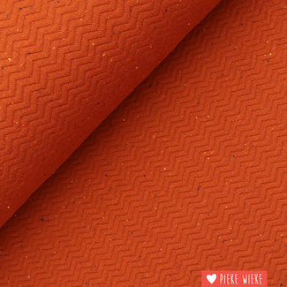 Jumper Chevron with dotted effect Rust