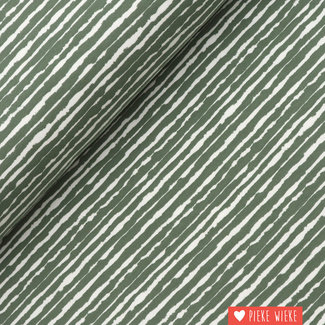 Tricot Brush stripes Green