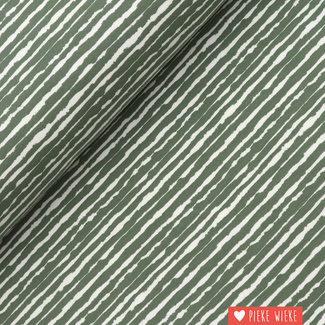 Tricot Brush stripes Groen