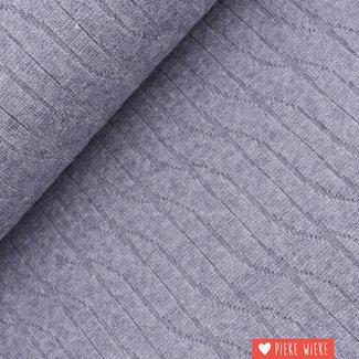 Gebreide jacquard Jeansblauw