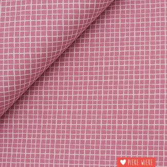 Katoen Crisscross  Pink