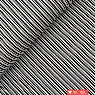 Katoen Dubbele streep Zwart