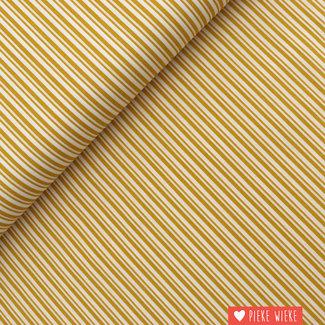 Cotton Double stripe Ochre