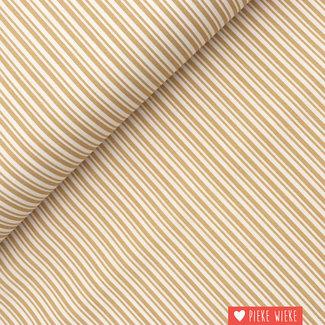Cotton Double Stripe Beige