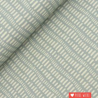 Canvas Little stripes Smokey blue