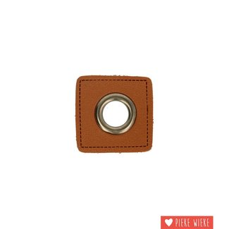 Grommet 11mm on artificial leather brown