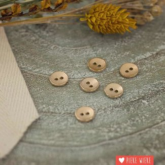 See You at Six Metal button structure 10mm Soft gold
