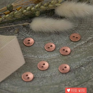See You at Six Metal button smooth 11mm Rose copper