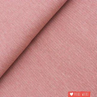 Canvas woven jacquard raspberry