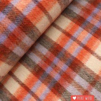 Mantle fabric checkered Orange violet