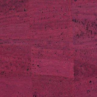 Zipper zoo Cork fabric Wine red