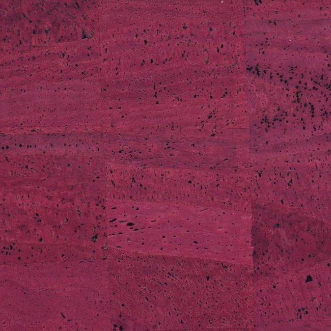 K-Bas Cork fabric Wine red
