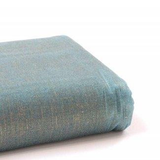 A. L. Frances Textiles Handwaxed metallic linnen  Golden teal