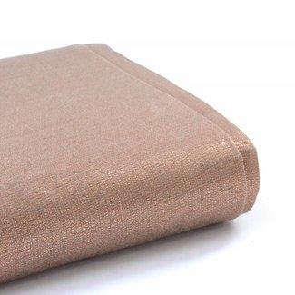 A. L. Frances Textiles Handwaxed metallic linnen Licht koper
