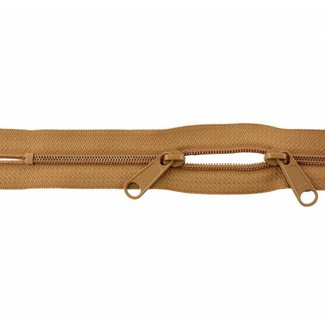 YKK Coil zipper 75cm with double pull (O-type) Ochre