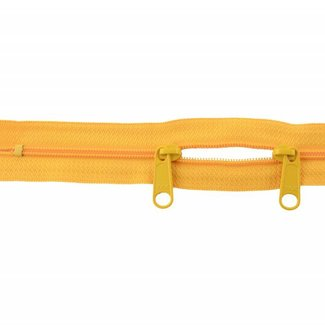 YKK Coil zipper 75cm with double pull (O-type) Warm yellow