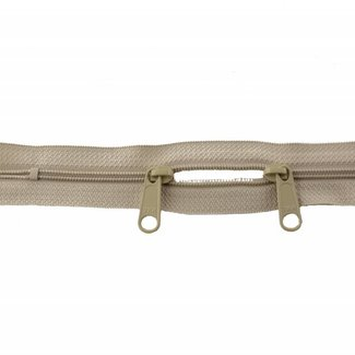 YKK Coil zipper 75cm with double pull (O-type) Sand