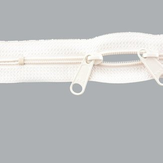 YKK Coil zipper 75cm with double pull (O-type) Off white