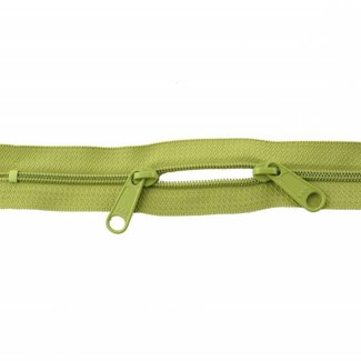 YKK Coil zipper 75cm with double pull (O-type) Lime