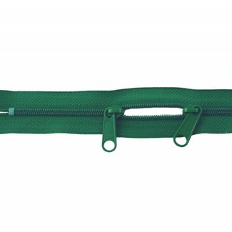 YKK Coil zipper 75cm with double pull (O-type) Grass green