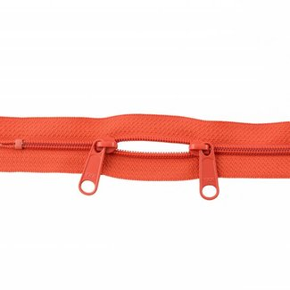 YKK Coil zipper 75cm with double pull (O-type) Tangerine