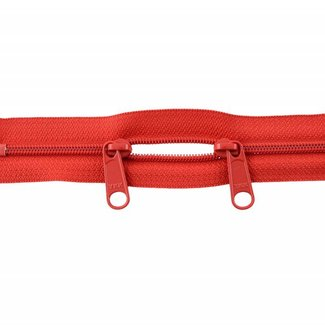 YKK Coil zipper 75cm with double pull (O-type) Bright red