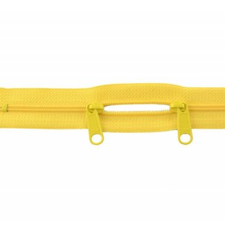 YKK Coil zipper 75cm with double pull (O-type) Lemon