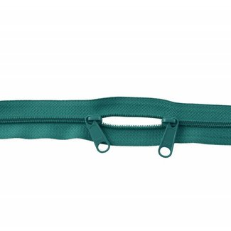 YKK Coil zipper 75cm with double pull (O-type) Teal
