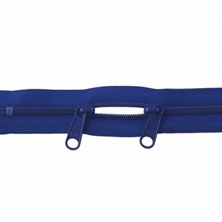 YKK Coil zipper 75cm with double pull (O-type) Royal blue