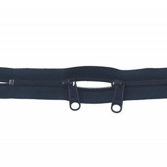 YKK Coil zipper 75cm with double pull (O-type) Navy