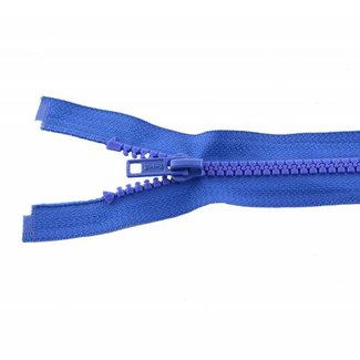 Molded plastic teeth zipper 20cm Royal blue