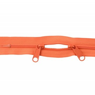 YKK Coil zipper 75cm with double pull (O-type) Orange