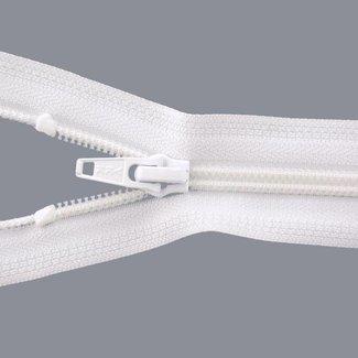 Coil zipper 65cm White