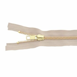 YKK Metal zipper Brass 45cm Light sand