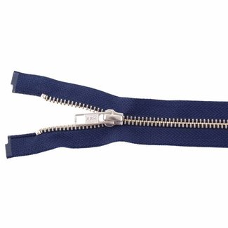 YKK Metal zipper Nickel 45cm Dark blue