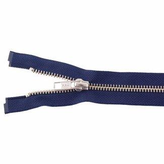 YKK Metalen rits Nikkel 45cm Donkerblauw
