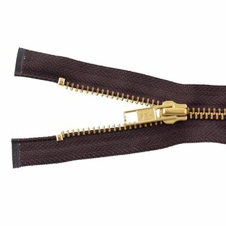 YKK Metal zipper Brass 45cm Mid brown