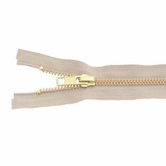 YKK Metal zipper Brass 65cm Light sand