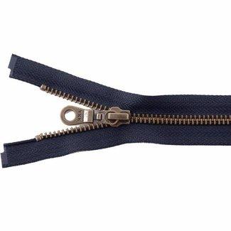 YKK Metal zipper Anti-Brass 65cm Dark blue