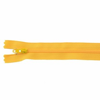 YKK Coil zipper Non-separating 25cm Warm yellow