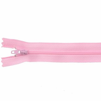 YKK Coil zipper Non-separating 25cm Light pink