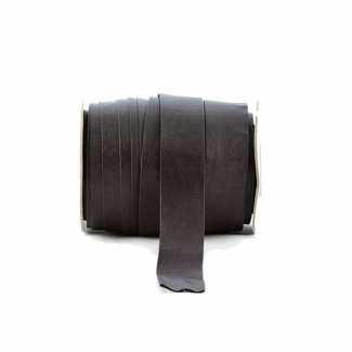 K-Bas Bias tape faux leather Dark brown, extra wide