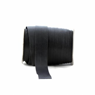 K-Bas Bias tape faux leather Black, extra wide