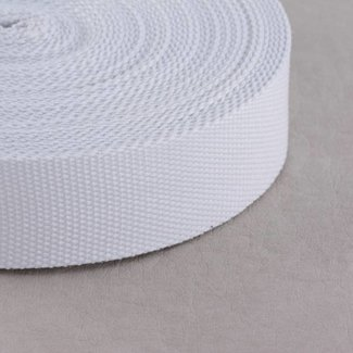 Webbing White 25mm