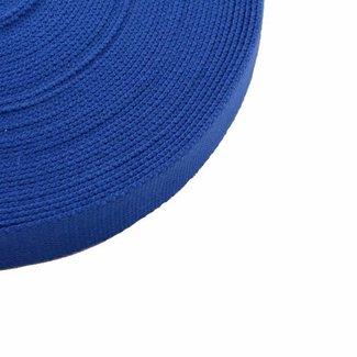 Tassenband Koningsblauw 25mm