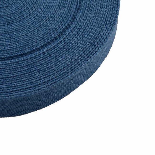 Tassenband Jeansblauw 25mm